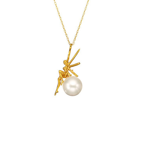 Gold star charm set with zircon stones on a delicate gold chain.