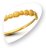 Drops Jewellery - Simple gold band with gold drops